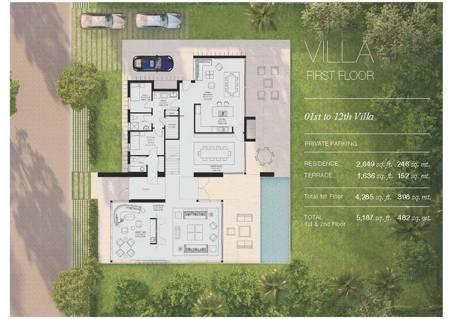 Oceana Key Biscayne – Villas At Fortune Place Floor Plan